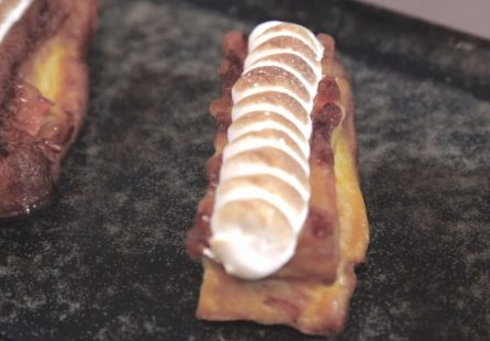 Clafoutis Meringué aux pommes et patate douce
